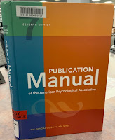 Picture of APA style manual (7th edition)
