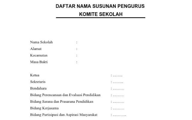 AD/ART Komite Sekolah Format PDF Lengkap