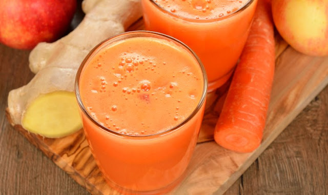Energizing Carrot, Apple, Ginger Juice #drinks #healthy