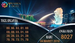 Prediksi Togel Singapura Rabu 04 Maret 2020
