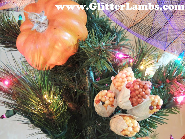 My Decorated Fall Christmas Tree by Glitter Lambs