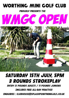 Details of the Worthing Mini Golf Club Open tournament