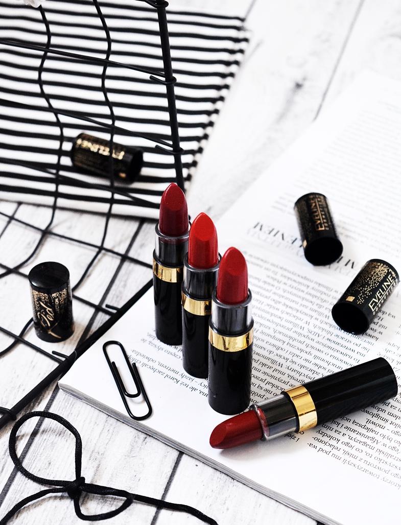 eveline czerwone szminki