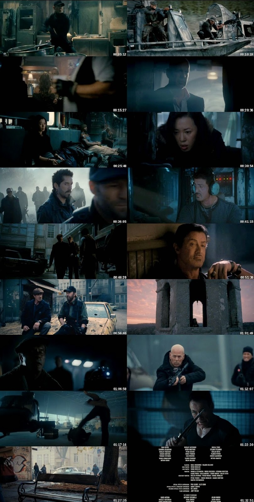 Screen Shot Of The Expendables 2 2012 300MB Full Movie Hindi Dubbed Free Download 720P BRRip HEVC