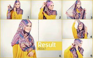 Cara memakai jilbab pashmina sifon untuk lebaran terbaru