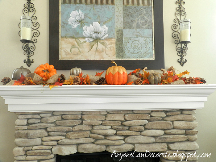 45 Fireplace Decoration Ideas So Can You The Creative: Anyone Can Decorate: Fall Mantle Decor