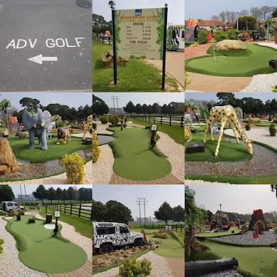 Adventure Golf at Rustington Golf Centre in Angmering April 2019