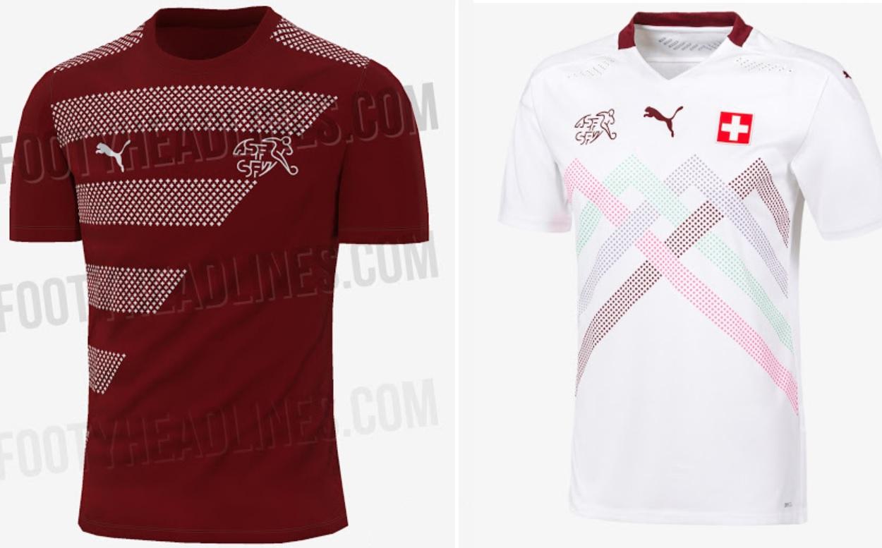 Switzerland Home & Away Kits Euro 2020