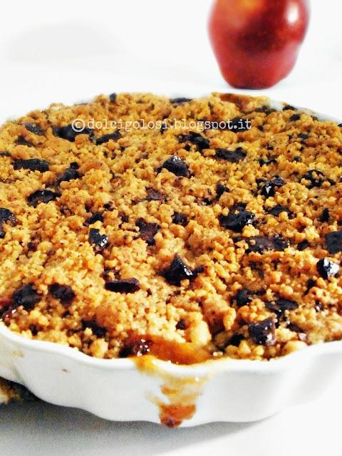 Dolci golosità: Crumble di mele e cioccolato