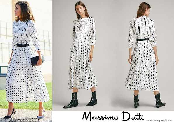 Queen Letizia wore Massimo Dutti print Dress