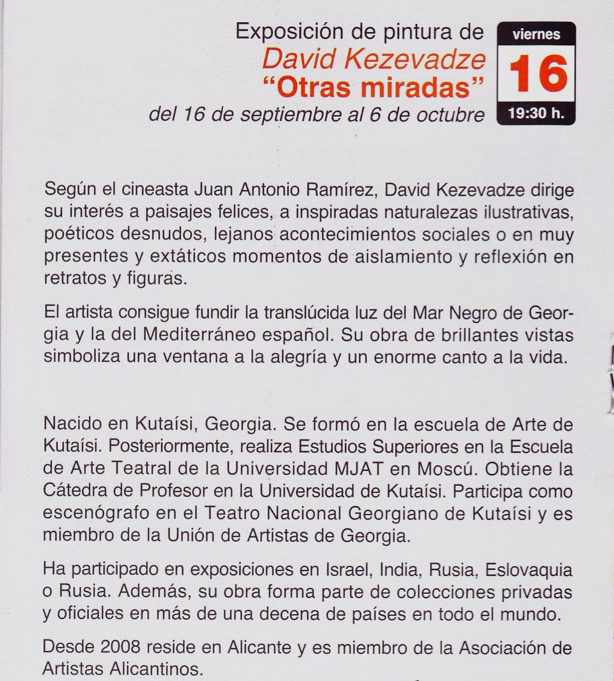 Nuevo Impulso Revista Digital David Kezevadze En ámbito Cultural