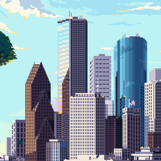 Pixel Art City Animated Wallpaper Engine