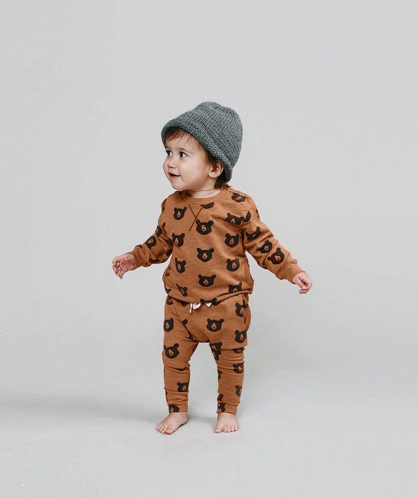Rylee + Cru AW16 collection - bear sweatsuit
