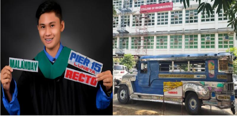 Jeepney driver sa gabi estudyante sa umaga proud na nakatapos sa kolehiyo, nagpasalamat sa kaniyang naging mga pasahero