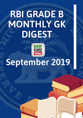 RBI Grade B Monthly GK Digest: September 2019