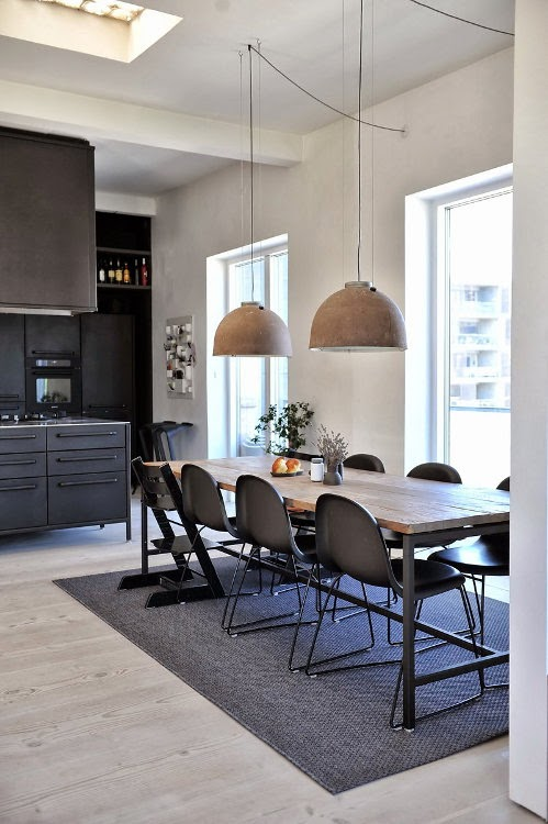 Noir blanc un style for Salon industriel scandinave