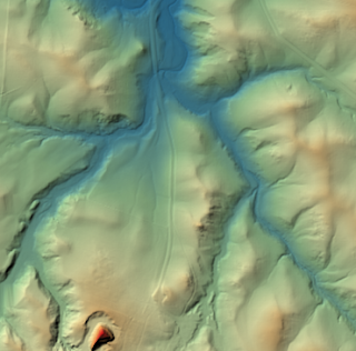 Colorful Hillshading Map