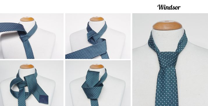Windsor Tie knot instructions