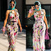PREGNANT CARDI B SHOWCASE HER GROWING BABY BUMP IN PUCCI JUMPSUIT (PHOTOS).