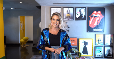 A apresentadora Bruna Calmon - Divulgação