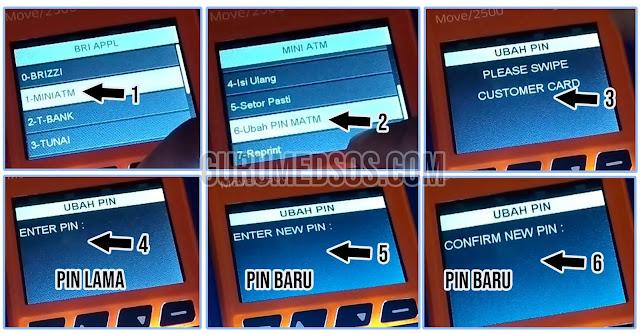 Cara Mengganti PIN ATM BRI di EDC BRILink