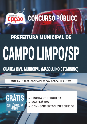 Apostila Concurso Campo Limpo Paulista SP 2020 PDF Edital Online Inscrições