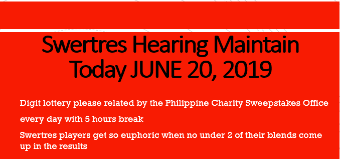 Swertres Hearing: Swertres Hearing Maintain Today JUNE 20, 2019