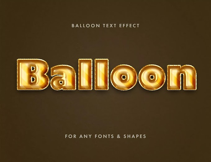 Balloon Foil PSD Text Effect
