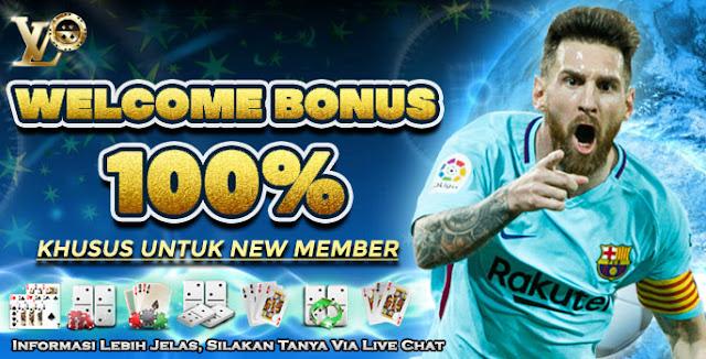 Welcome Bonus New Member 100% (Slot & Tembak Ikan)