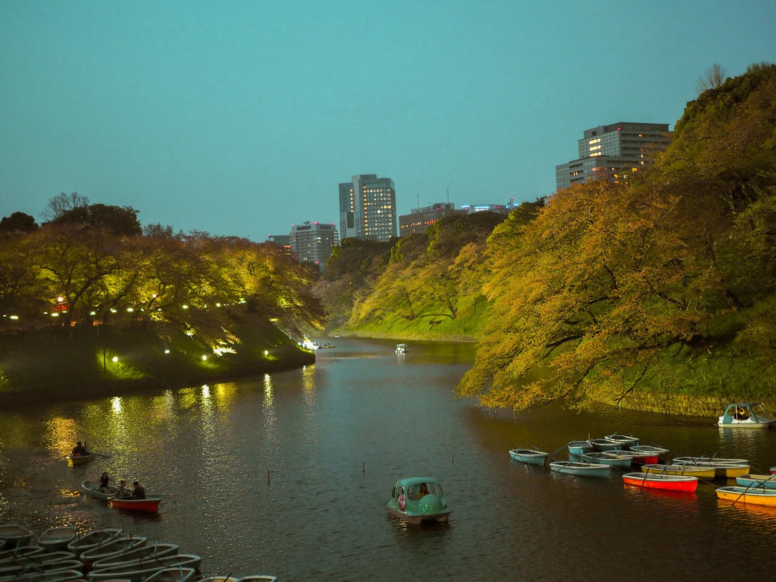Chidorigafuchi at night