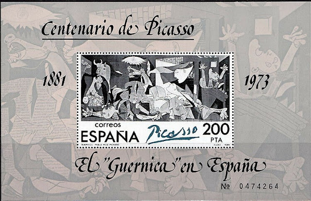 Spain 1981 Picasso Centenary Souvenir Sheet