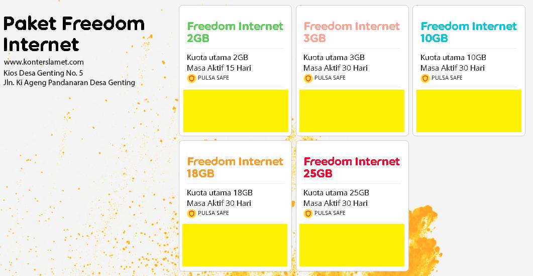 Paket Freedom Internet