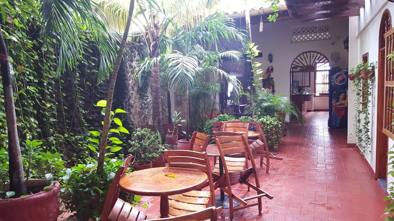 Área de convívio no Hotel 3 Banderas em San Diego - Cartagena