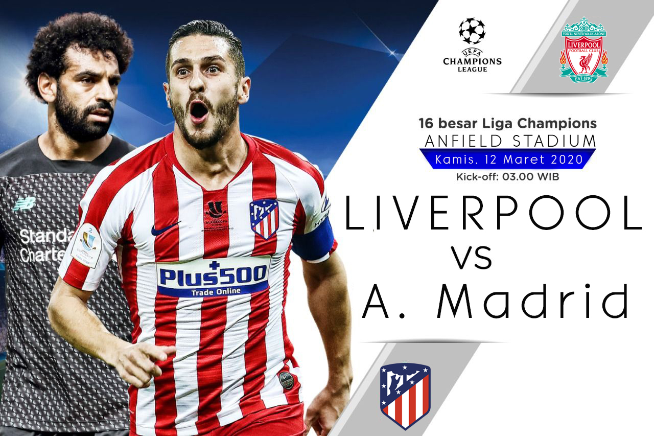 Prediksi Pertandingan Liverpool vs Atletico Madrid 12 Maret 2020