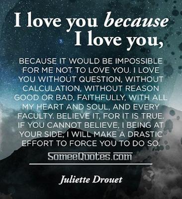 I love you because I love you