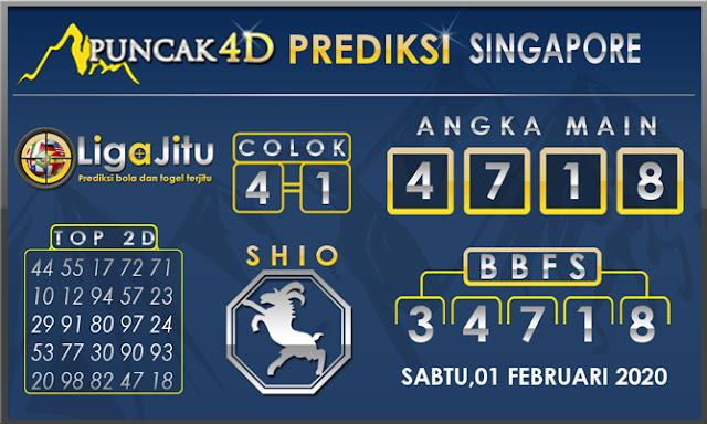 PREDIKSI TOGEL SINGAPORE PUNCAK4D 01 FEBUARI 2020