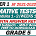 GRADE 5 UPDATED SUMMATIVE TESTS NO. 1 for SY 2021-2022 (Q1 Modules 1-2) With Answer Keys
