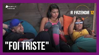 A Fazenda 12 – Luiza discute com Jakelyne – Luiza desabafa com Mirella – Peões analisam sexta formação