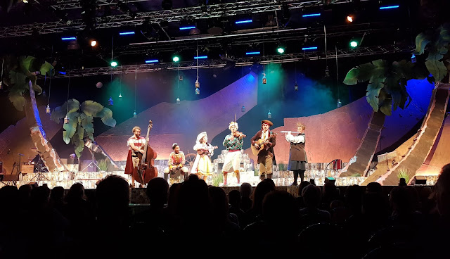 Cast on stage Treasure Island Bolton Octagon Theatre review