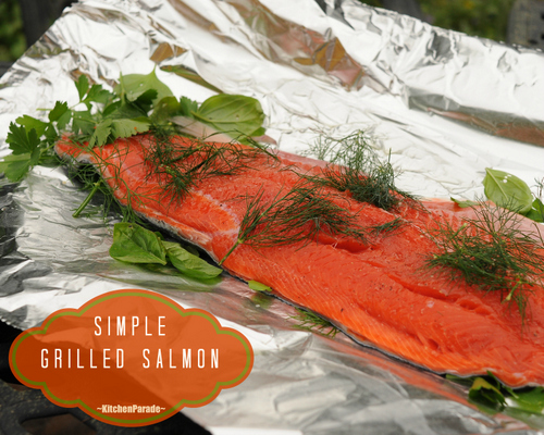Simple Grilled Salmon, another Quick Supper ♥ KitchenParade.com, how to grill salmon, simply, sumptuously. Weight Watchers Friendly. Low Carb. High Protein.