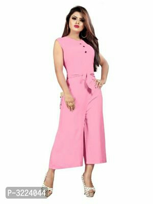 RAYON SOLID JUMPSUITS