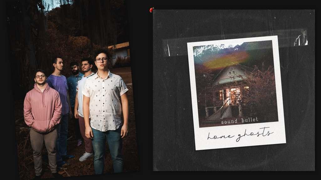 """Encerrando um 2020 significativo para a Sound Bullet, a banda carioca lança uma versão estendida de seu segundo disco de estúdio, """"Home Ghosts"""". O trabalho marcou sua estreia pela Sony Music Brasil e um amadurecimento em uma sonoridade desde sempre guiada pelo math rock, post-punk revival, alternativo e indie. Agora, os músicos somam à tracklist uma série de releituras lançadas no projeto """"(decasa.)"""", que revisitou canções do álbum abarcando novas referências. A Deluxe Edition de """"Home Ghosts"""" já está disponível para streaming."""