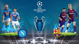 مباراة برشلونة ونابولي