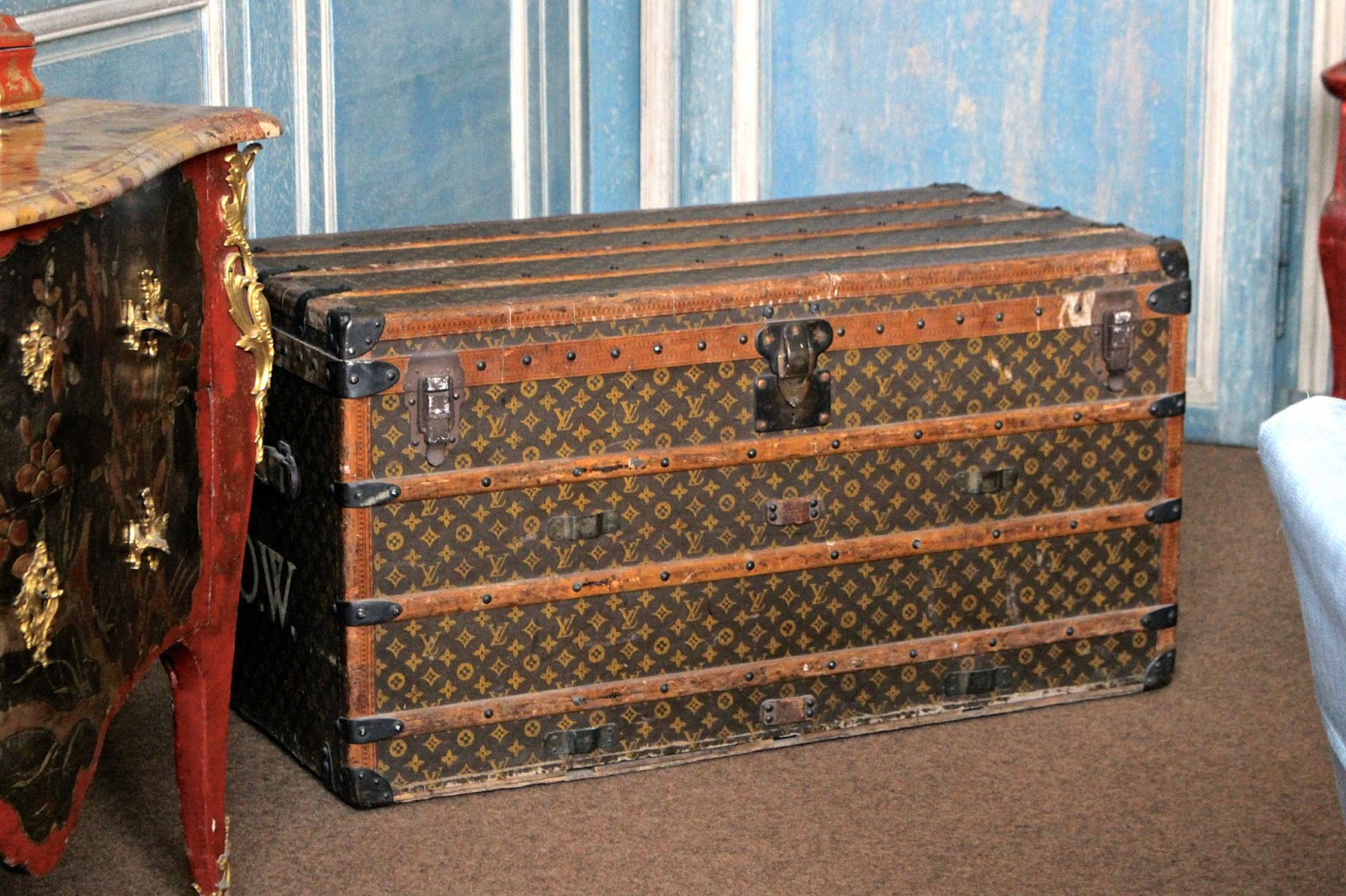 Vintage Louis Vuitton Trunk found at Leeds Castle