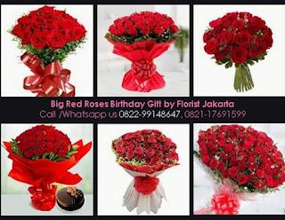 Bunga Mawar Merah Ulang Tahun