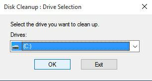 Pilih Partisi Disk Cleanup