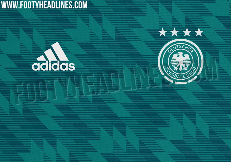 9412cdb0 Superb teal colour and pattern. Germany shirts are amazing this year, gifts  that keep on giving..🔥 pic.twitter.com/Xo26718JI4