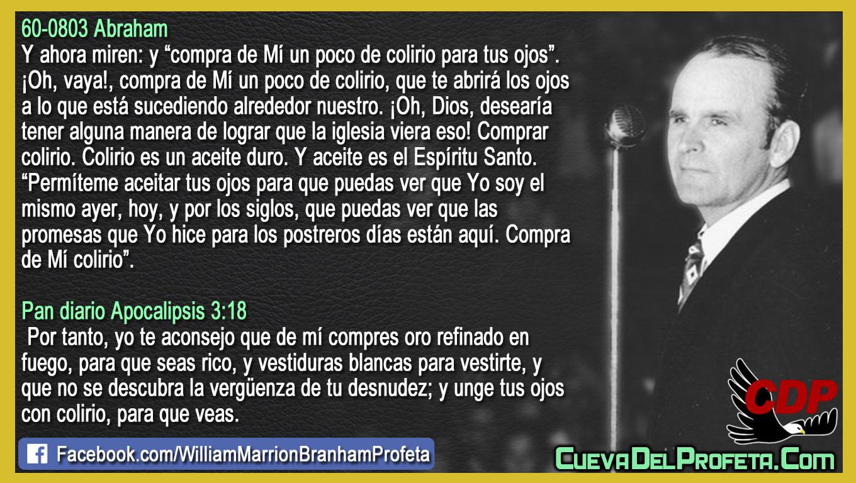 Permíteme aceitar tus ojos para que puedas ver - William Branham en Español