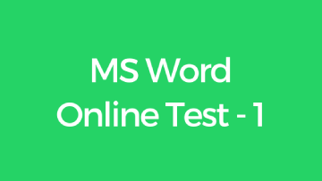 CCC MS Word Online Test