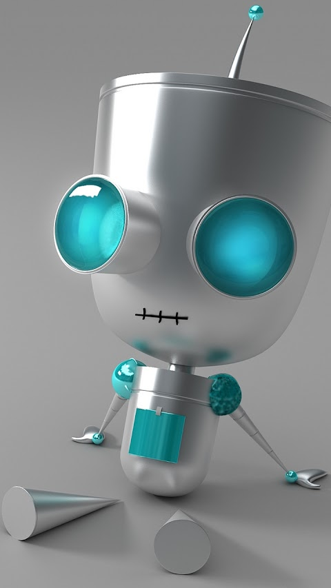 Robot mắt to